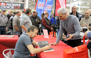 2018 Toronto Spring Motorcycle Show, guests signing autographs